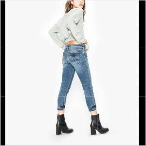 Silver Kenni Crop Jeans
